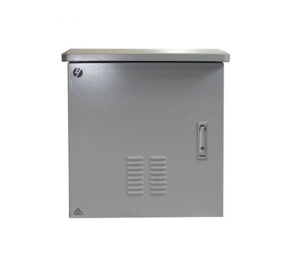 4Cabling 12RU 600mm Wide x 600mm Deep Grey Outdoor Wall Mount Ventilated Cabinet. IP45