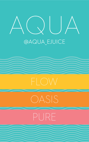 There hasn't been a straight fruit vape line released in the industry in many years, therefore, we released one....Aqua. Clean, crisp, and refreshing, Aqua is a delicious blend of your favorite fruits in 60ml only.