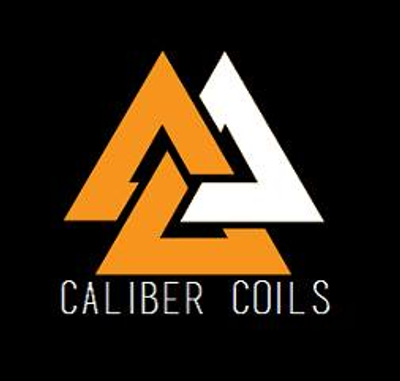 Caliber Coils all hand made in ss wire and in the USA Suggested voltage for dual coil is 5.82v or 60-80w Quad they're .15-.26 Single they're .5-.6 Ohm ranges from .3-.45 In dual.