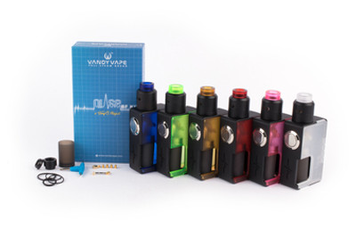 Vandy Vape Pulse BF 8ML Squonk Starter Kit With 24MM Pulse RDA The Pulse BF kit is the newest member in Pulse BF family. Created by Vandy Vape and Tony B., it combines the Pulse BF box mod and the new Pulse 24 RDA with six new transparent color options. Pulse BF Mod Dimension: 100 mm x 50 mm x 27 mm Spring Loaded 510 thread type 18650/20700 battery compatible Juice bottle capacity: 8.0 ml Weight of package: 12 oz Material: Nylon + ABS (High temperature resistant) Pulse 24 RDA Length: 23 mm Diameter: 24.4 mm Capacity: 2.0 ml Weight including package: 15 oz.  Advanced User Item. Use at Your Own Risk!  NOTE: Descriptions, specifications, and claims are based on manufacturer information. Information listed and provided are to be used at the sole discretion of the consumer and are not representative of analysis, testing, and verification by Alien-CloudVapes and any and all of Alien-CloudVapes parent and subsidiary companies. There is an inherent risk with the use of any and all rechargeable batteries in any circumstance. Alien_CloudVapes and any and all of Alien-CloudVapes parent and subsidiary companies are not responsible for damage if there is any modification of the batteries/chargers in any form or shape (including pack making). Alien_CloudVapes and any and all of Alien-CloudVapes parent and subsidiary companies are not responsible for any damage caused by the misuse and/or mishandling of Li-ion (Lithium-ion), LiPo (Lithium-ion Polymer) and any rechargeable batteries and chargers.  Use special caution when working with Li-ion (Lithium-ion), LiPo (Lithium-ion Polymer) and any rechargeable cells, as they are very sensitive to charging characteristics and may explode or burn if mishandled. Make sure the user has enough knowledge of Li-Ion (Lithium-ion), LiPo (Lithium-ion Polymer) and any rechargeable cells in charging, discharging, assembly and storage before use. Always charge in/on a fire-proof surface. Never leave charging batteries unattended. Do not use any rechar