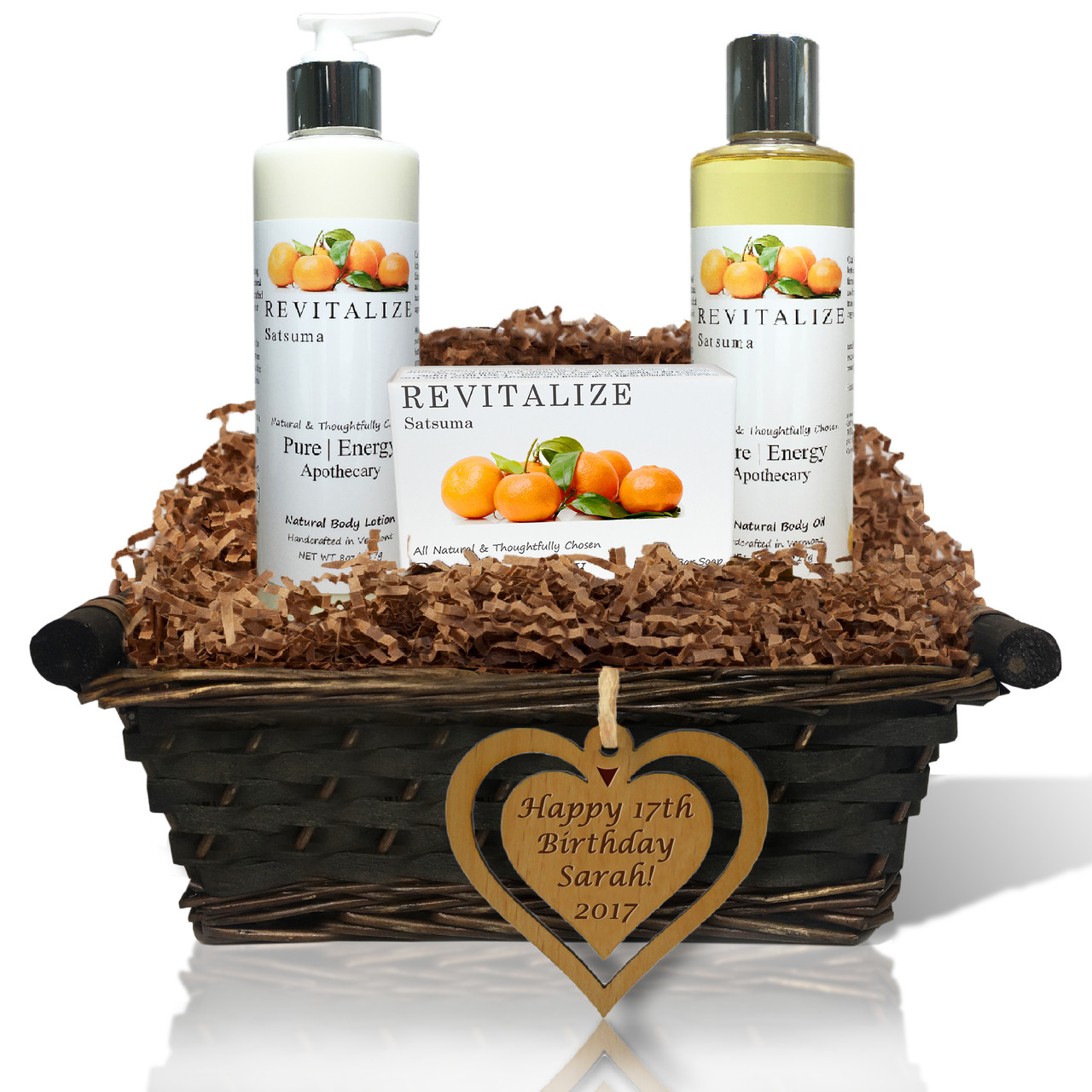 Pure Energy Apothecary Daily Delight Birthday Gift Basket Satsuma