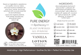 Lotion (Vanilla) Label