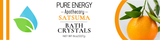 Bath Crystals (Satsuma) Pure Energy Apothecary Label