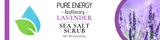 Sea Salt Scrub (Lavender) Pure Energy Apothecary Label