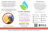 Body Oil (Lavender Orange) Pure Energy Apothecary Label