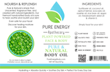 Body Oil (Pure & Natural) Pure Energy Apothecary Label