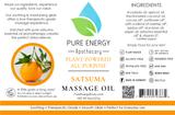 Massage Oil (Satsuma) Pure Energy Apothecary Label