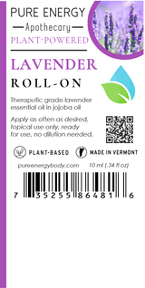 Roll-on (Lavender) Pure Energy Apothecary  Label