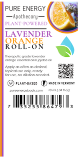 Roll-on (Lavender Orange) Pure Energy Apothecary Label