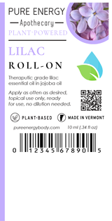 Roll-on (Lilac) Pure Energy Apothecary  Label
