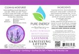 Sanitizing Lotion (Lavender) Label