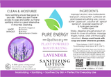 Lavender Sanitizing Lotion 2 oz Pure Energy Apothecary
