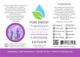 Lavender Lotion 2oz Pure Energy Apothecary Label