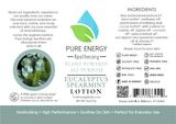 Eucalyptus Spearmint All Purpose Moisturizing Lotion 2 oz Pure Energy Apothecary Labels
