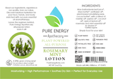 Rosemary Mint All Purpose Moisturizing Lotion 2 oz Pure Energy Apothecary Label