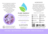 Lilac All Purpose Moisturizing Lotion 2 oz Pure Energy Apothecary Label