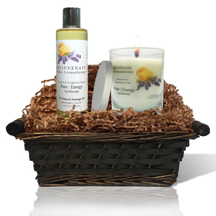 Relaxing Ritual Gift Basket (Pure Aromatherapy)