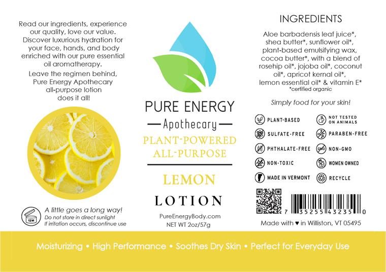 Lotion Label (Lemon)