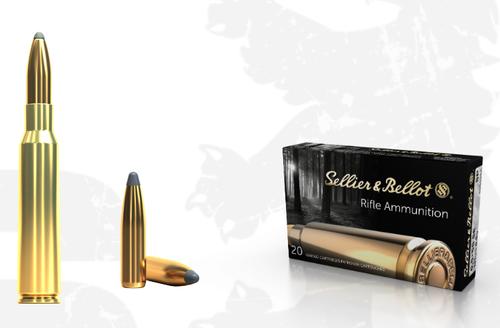 Sellier & Bellot 6.5x55mm Swedish Mauser 131 Grain Soft Point SB6555A 20 rds/box
