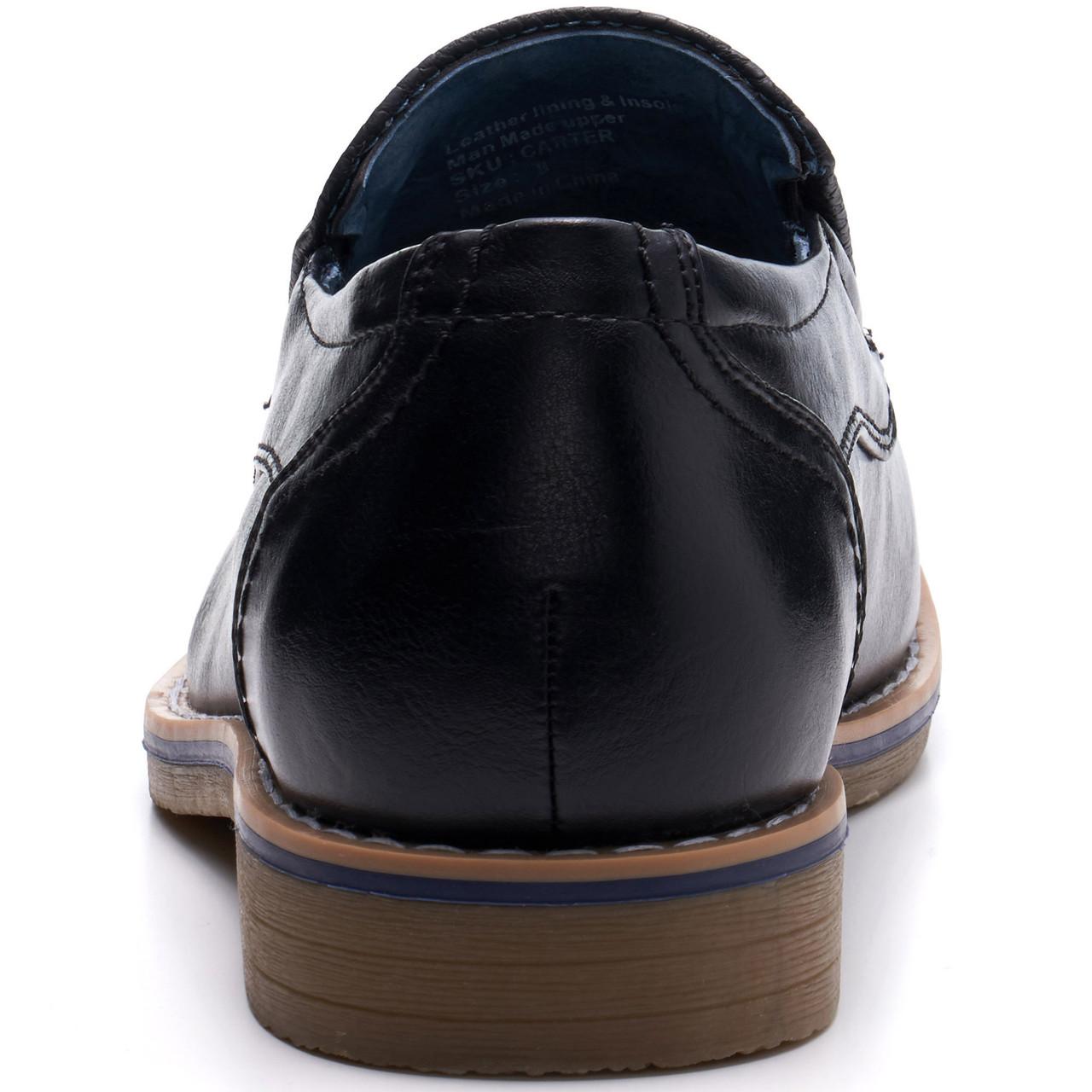 0211ee79d41 Alpine Swiss Carter Mens Slip On Loafers Snakeskin Dress Shoes