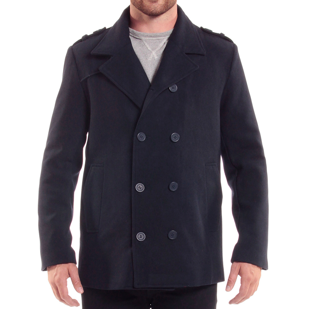 a5243b400d8 Alpine Swiss Jake Mens Wool Pea Coat Double Breasted Jacket