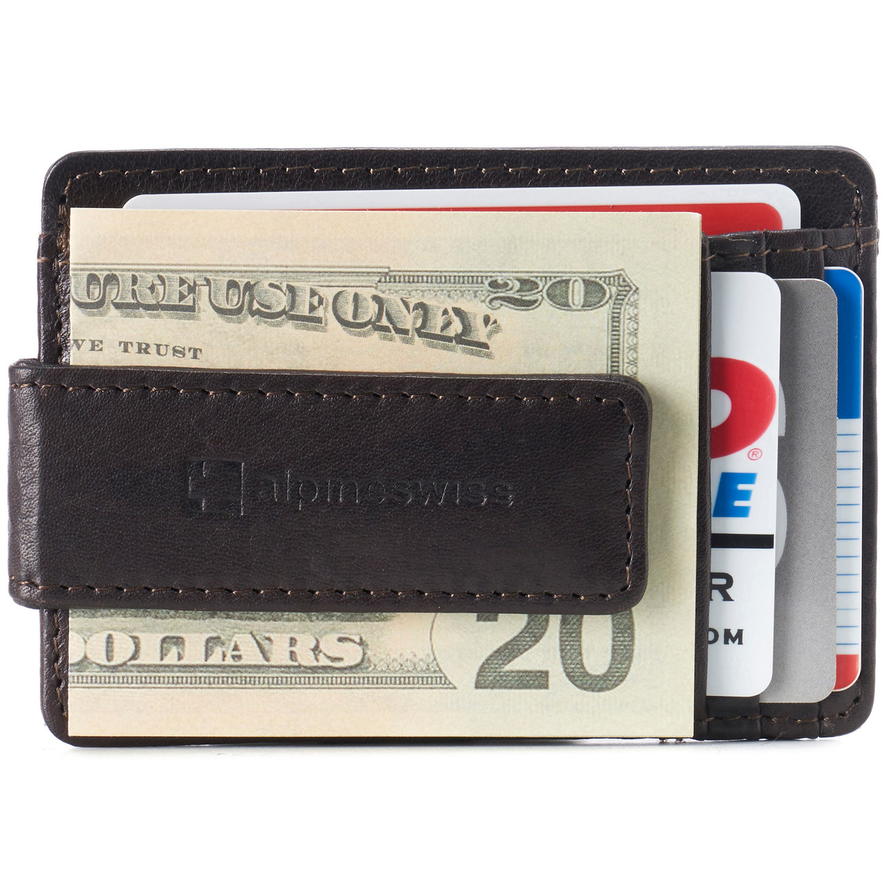 Slim Minimalist Card Holder RFID Blocking Napa Leather For Men And Woman By...