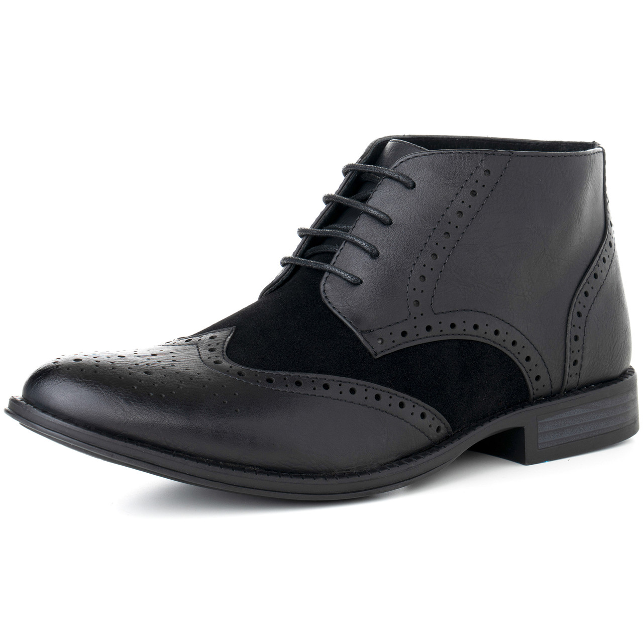 ed02a98df5d Alpine Swiss Geneva Mens Ankle Boots Lace Up TwoTone Brogue Wing Tip Dress  Shoes