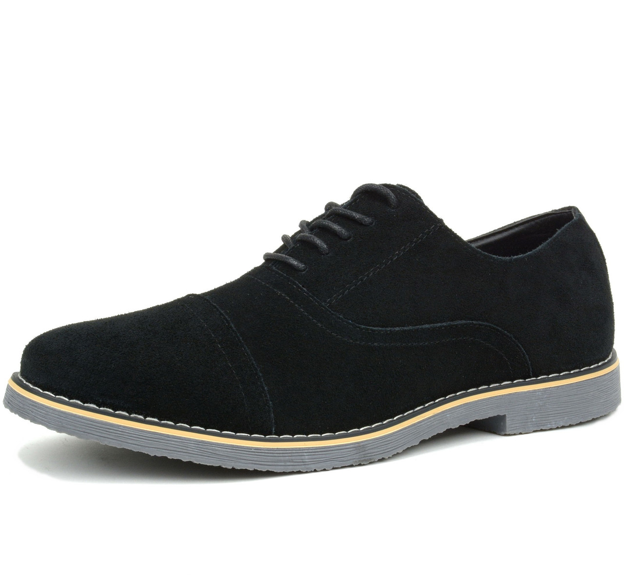 Suede /& Genuine Formal Leather Dress Shoes Mens Oxfords Casual Leather Boots
