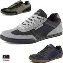 Alpine Swiss Marco Mens Retro Tennis Shoes Suede Trim Fashion Sneakers