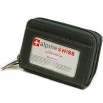 Alpine Swiss Womens Accordion Organizer Wallet Leather Credit Card Case ID