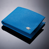 Double Diamond Mens RFID Bifold Wallet with Divided Bill Section
