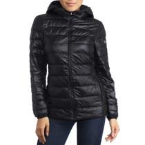Alpine Swiss Eva Womens Down Alternative Puffer Jacket Hooded Light Packable Coat