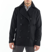 Alpine Swiss Mason Mens Wool Blend Classic Pea Coat Jacket