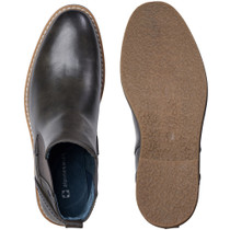 alpine swiss Arbete Mens Leather Slip-On Work Shoes Slip Resistant