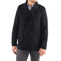 Alpine Swiss Jake Mens Wool Pea Coat Double Breasted Peacoat Jacket