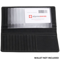 Checkbook Plastic Insert Made in USA by Alpine Swiss 6 Page SET of 2 Card Holder