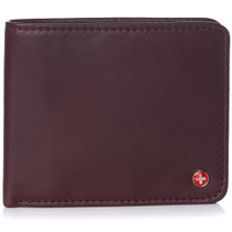 Alpine Swiss RFID Luka Men's Flip ID Wallet Deluxe Capacity ID Bifold With Divided Bill Section