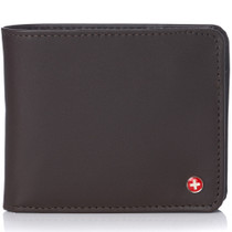 Alpine Swiss RFID Mathias Mens Wallet Deluxe Capacity Passcase Bifold With Divided Bill Section Camden Collection