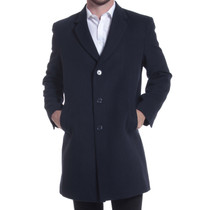 "Alpine Swiss Luke Mens 3 Button Tailored Wool 37"" Walker Car Coat"