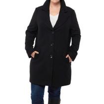 Alpine Swiss Womens Plus Size Wool Overcoat Classic Notch Lapel Walking Coat