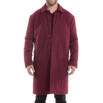 Alpine Swiss Zach Mens Overcoat Wool Trench Coat Knee Length RUNS LARGE