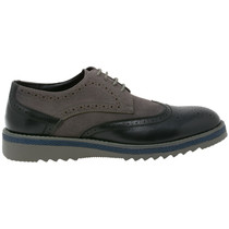 Alpine Swiss Alec Mens Ripple Sole Wingtip Shoes Leather Lining & Insole - Runs 1 Size Big