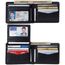 Alpine Swiss RFID Connor Passcase Bifold Wallet For Men Leather