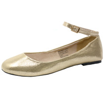 Alpine Swiss Womens Suede Lined Calla Ankle Strap Ballet Flats