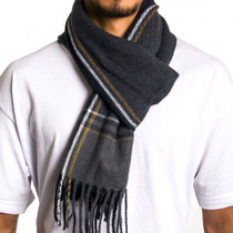 Alpine Swiss Mens Plaid Scarf Soft Winter Scarves Unisex
