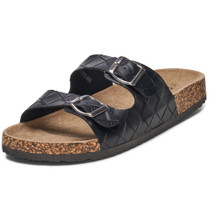 Alpine Swiss Mens Double Strap Casual Slides Flat Sandals