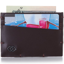 Alpine Swiss Double Diamond RFID Thin Card Holder Wallet