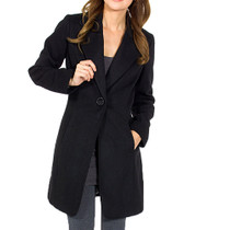 Alpine Swiss Stella Womens Wool Single Button 7/8 Length Overcoat