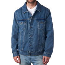 Alpine Swiss Derek Men's Classic Denim Trucker Jacket