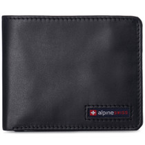 Alpine Swiss RFID Connor Passcase Bifold Wallet For Men Leather Comes in Gift Box